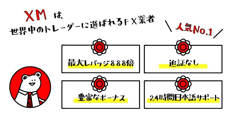 日本人トレーダー人気No1のXMのアイキャッチ画像