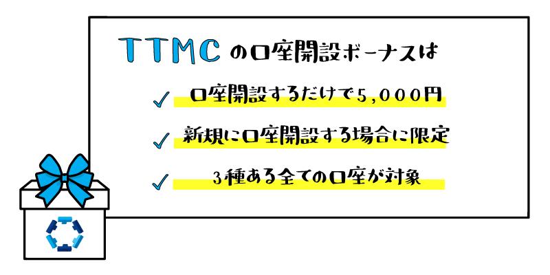 TTCM(TradersTrust)の口座開設ボーナスのアイキャッチ画像