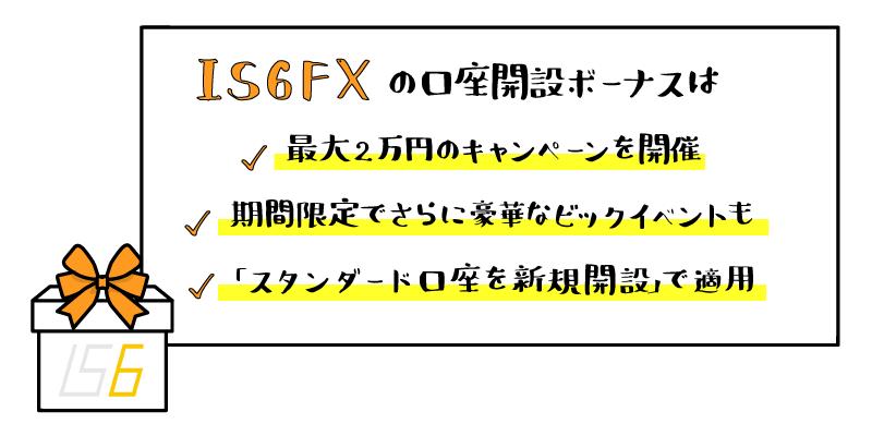 IS6FX(is6com)の口座開設ボーナスのアイキャッチ画像